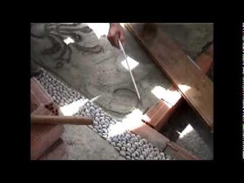 ▶ making a pebble mosaic - κατασκευή βοτσαλωτού - YouTube