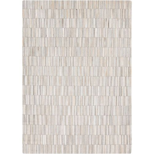 Outback Light Gray and Ivory Rectangular: 8 Ft x 10 Ft Rug - (In Rectangular)