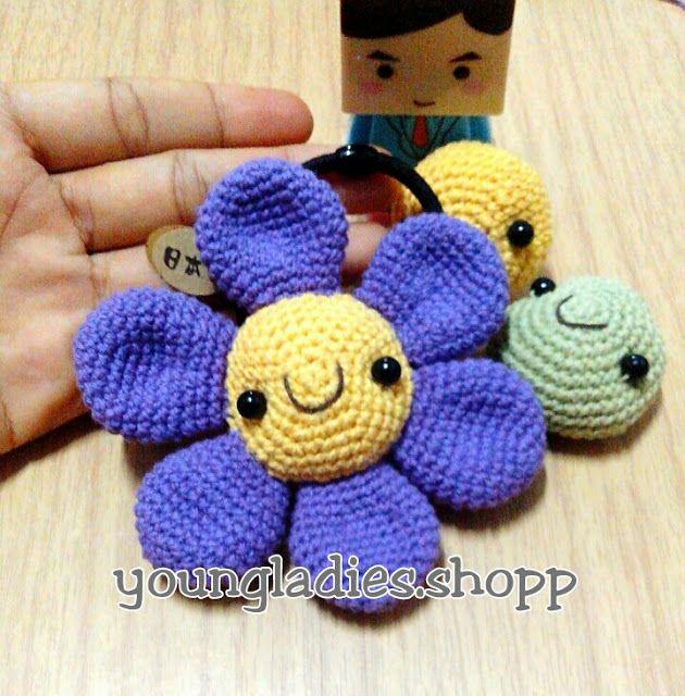 Amigurumi Plant Patterns : Youngladieshome crochet flower amigurumi pattern