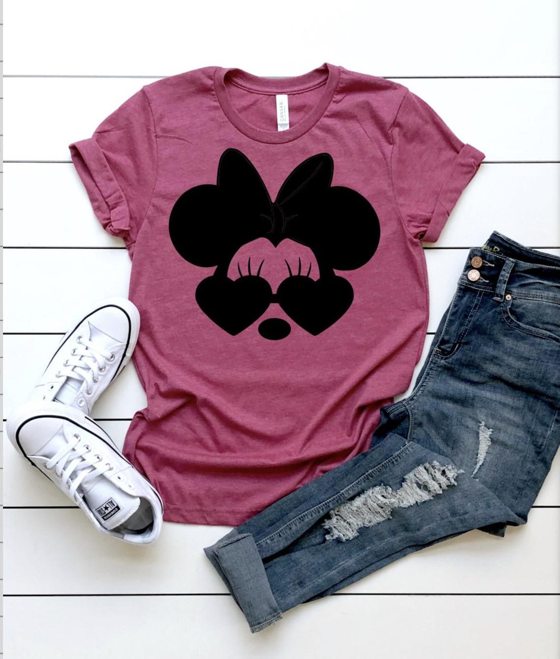 Minnie Mouse Sunglasses Shirt, Disney Shirts, Womens Disney Shirt, Disney Shirt, Kids Disney Shirts, Matching Disney Shirts, Minnie Mouse