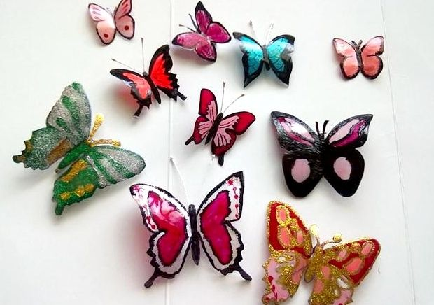 Бабочки из пластиковых бутылок своими руками фото 520