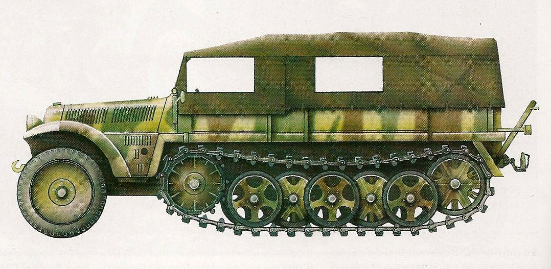 Sd.Kfz. 10 .- Ukrania , Union Sovietica, otoño de 1943.