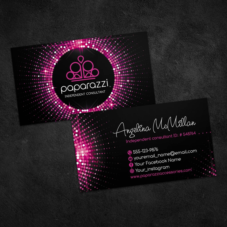 Paparazzi business cards, paparazzi custom cards, paparazzi jewelry ...