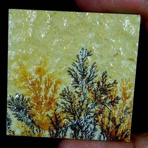 107.85Cts. 100% Natural Designer Psilomelane Dendrite Square Cabochon Gemstones #Handmade