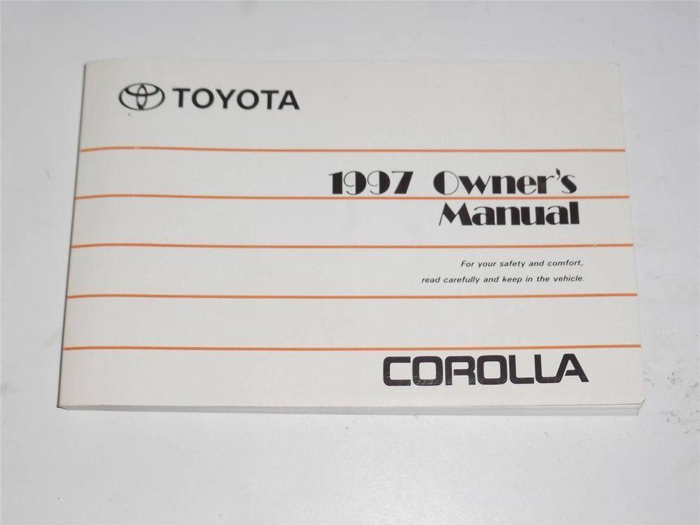 1997 Toyota Corolla Owners Manual Book Owners Manuals Toyota Corolla Manual