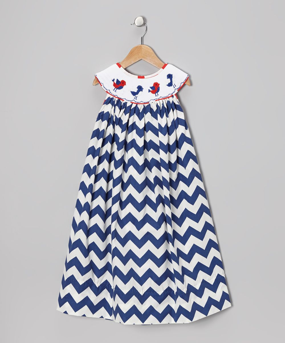 5dd396b30 Royal Blue Zigzag Bird Dress - Toddler   Girls