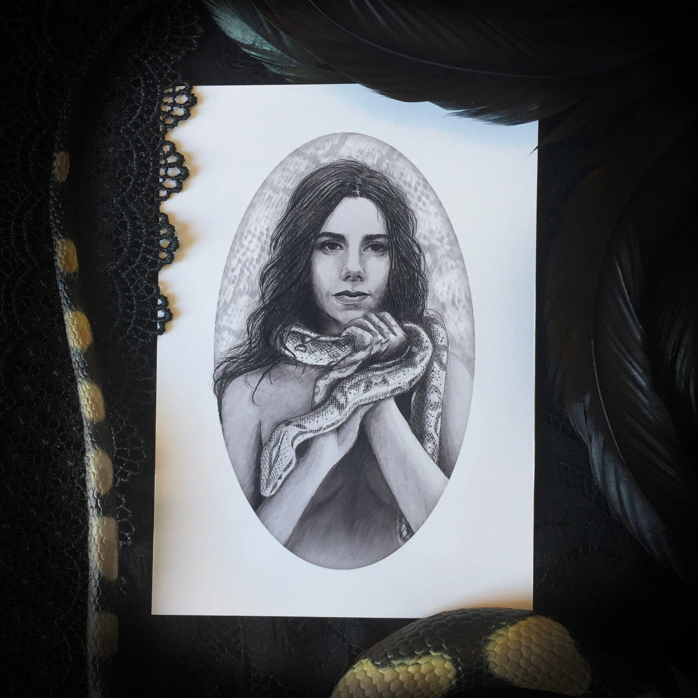 Temptation Art Print Dark Art Mythology in 2020
