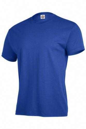 8ca3250fd Delta Apparel Magnum Weight Men's 6oz 100% Cotton Blue Plain T-Shirt #MensT- shirts