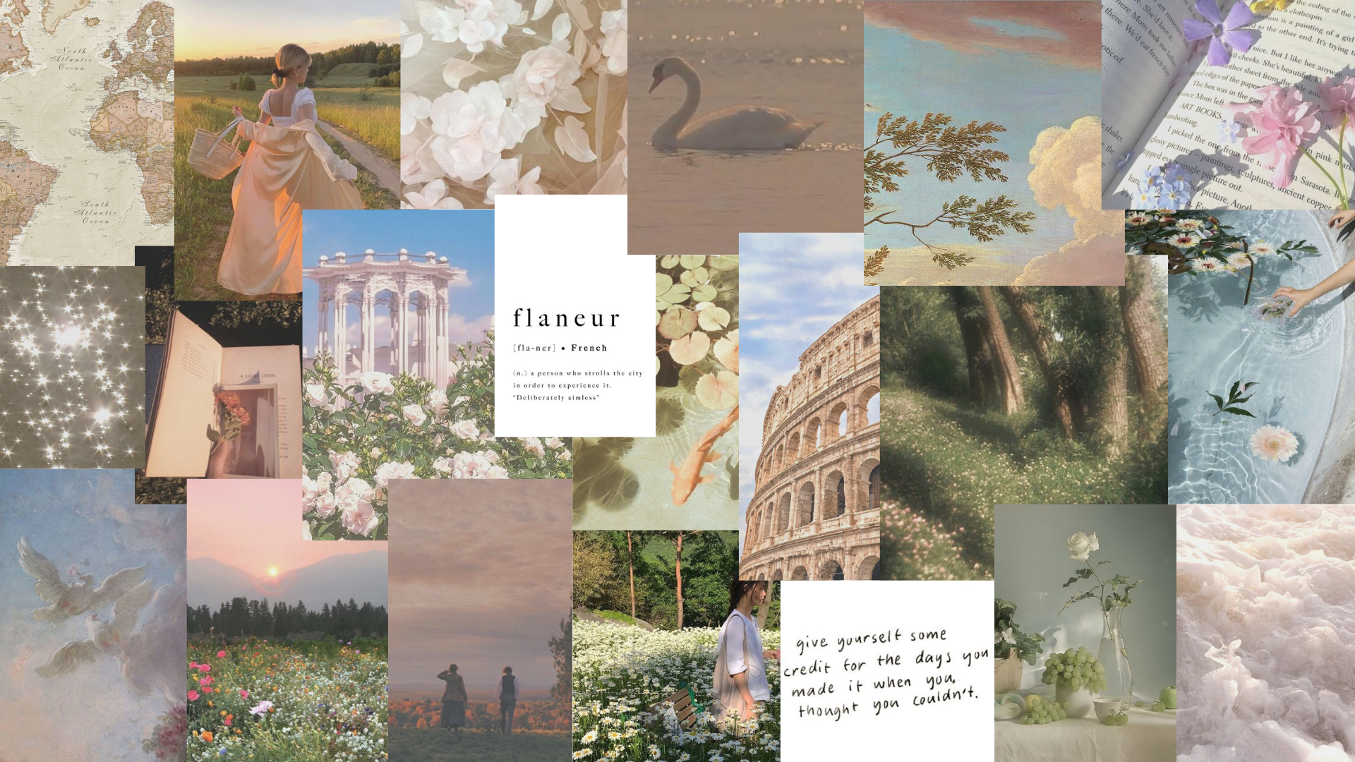 ethereal aesthetic collage