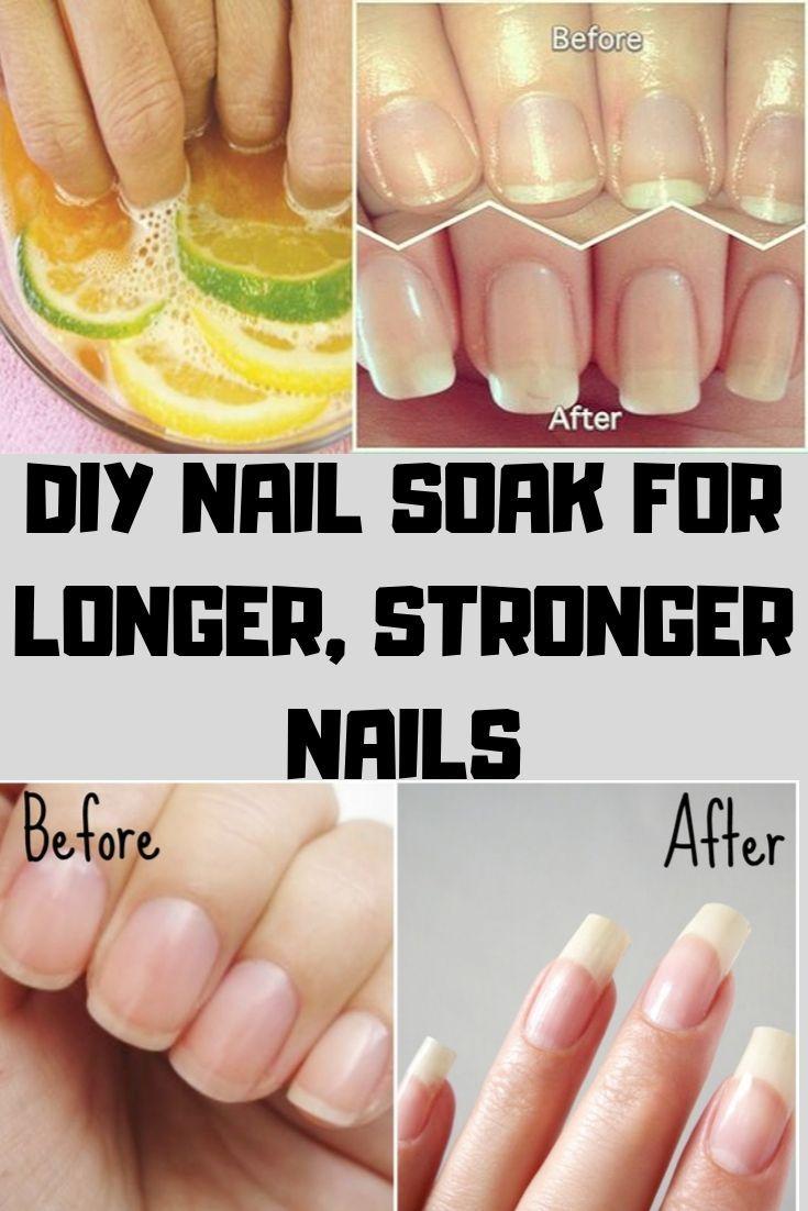Diy nail soak for longer stronger nails in 2020 diy