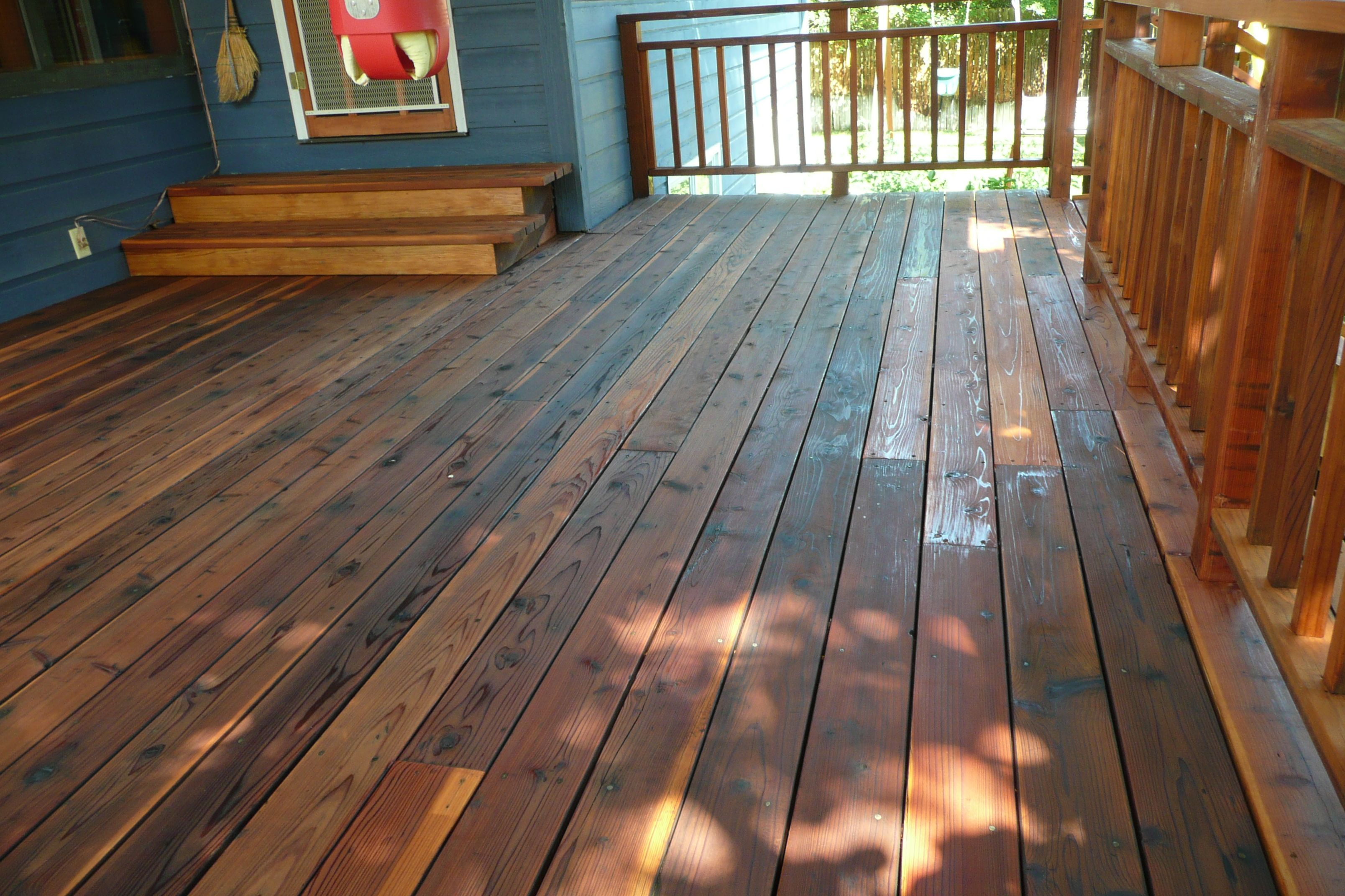 Cabot deck stain in wood toned cedar best deck stains for Best timber for decking