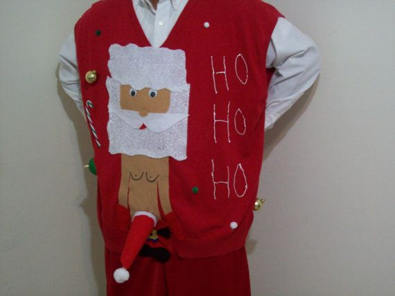Ugly Christmas Sweater Men XL Gingerbread by FunnyHolidaySweaters ...