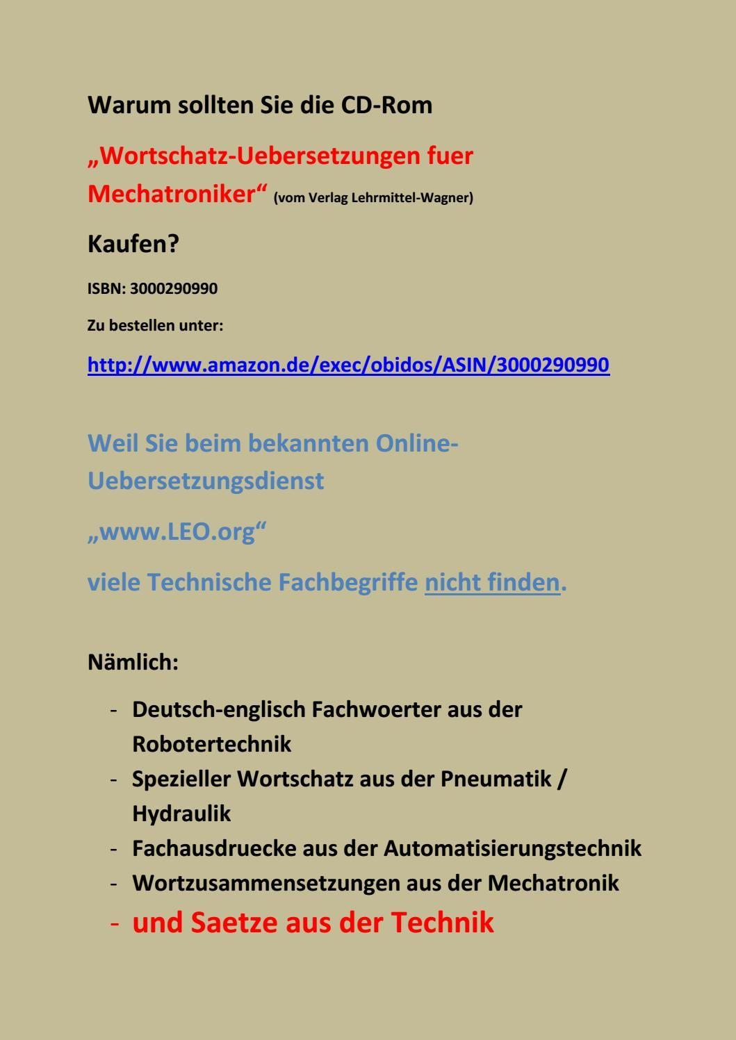 Deutsch Englisch Uebersetzung Test Technisches Woerterbuch Worterbuch Automatisierungstechnik Lehrmittel