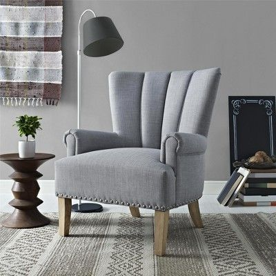 White Accent Chairs Used.Atlas Accent Chair Gray Dorel Living In 2019 Products Grey