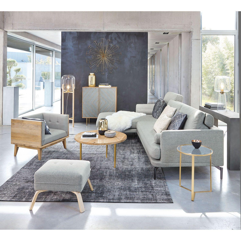 Decoração de parede  Casas con piso gris, Salones grises