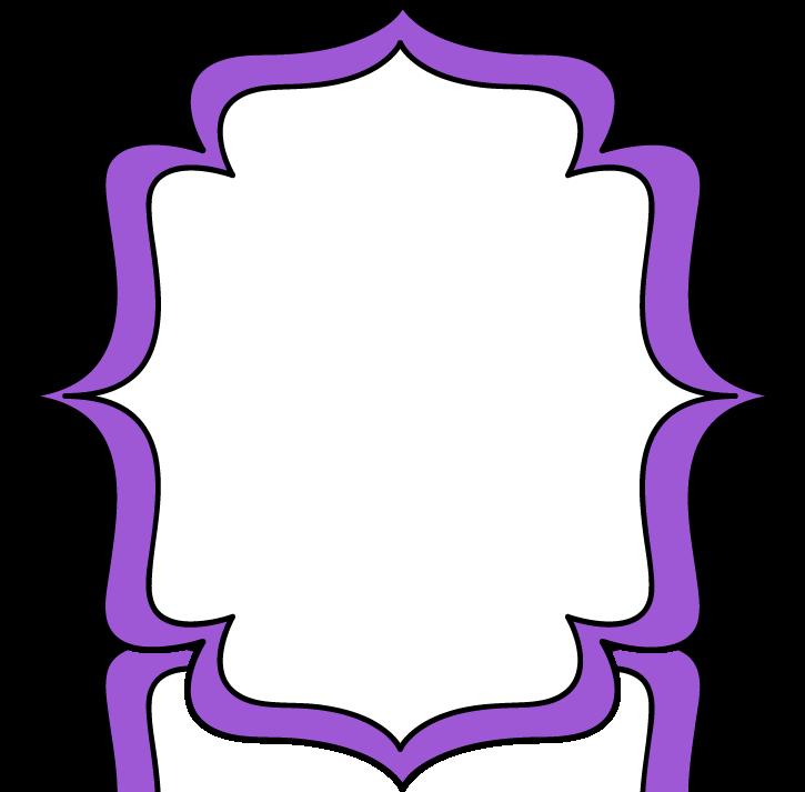 Purple Double Bracket Frame Labels Pinterest Search