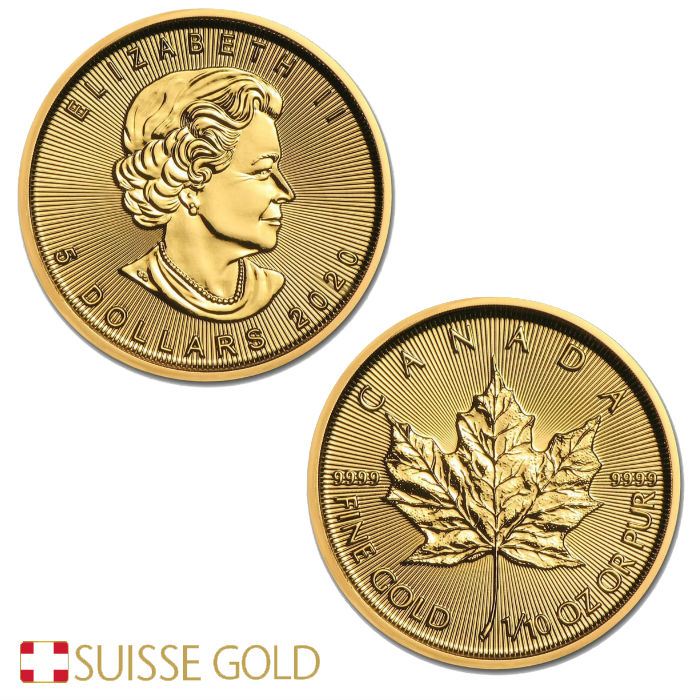 2020 Tenth Ounce Canadian Maple Leaf Gold Coin In 2020 Maple Leaf Gold Gold Coins Canadian Maple Leaf