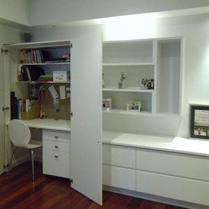 Media Wall Unit Hideaway Desk Cabinetry Storage Cupboards Project In Lane Cove Sydney Spaceworks Wall Storage Unit Wall Unit Wall Storage