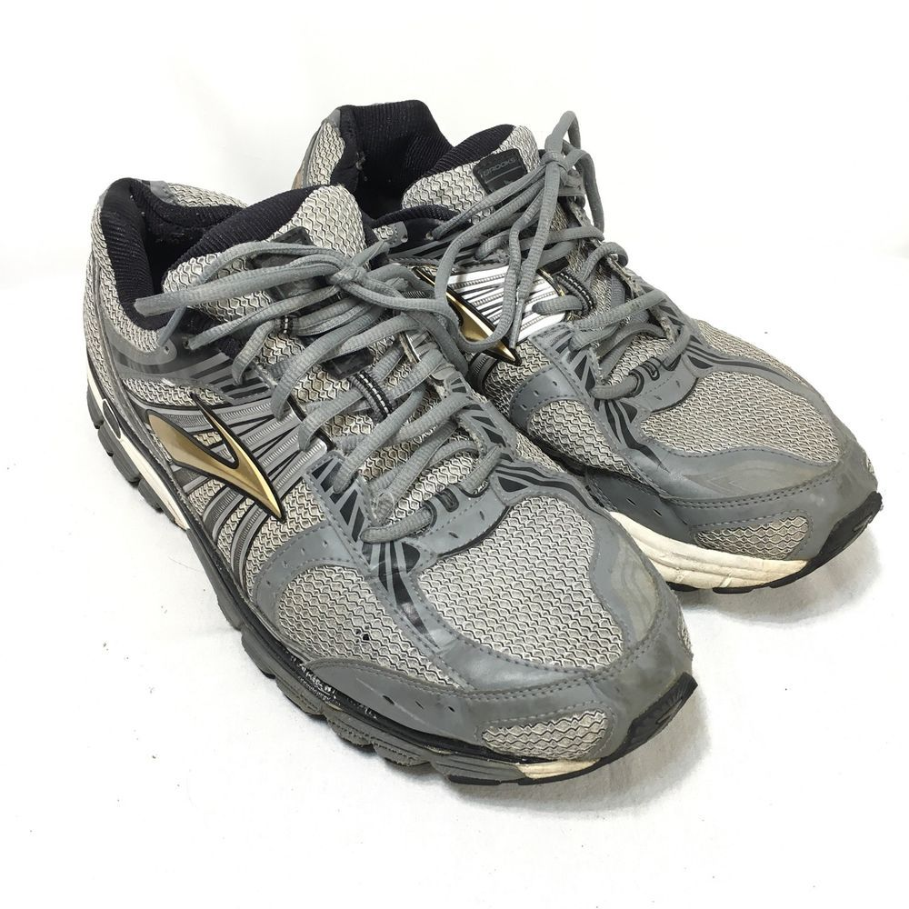 7a9d64e3620bb Brooks Beast Men s Size 13 4E Gray Bronze Athletic Lace Up Running Shoes
