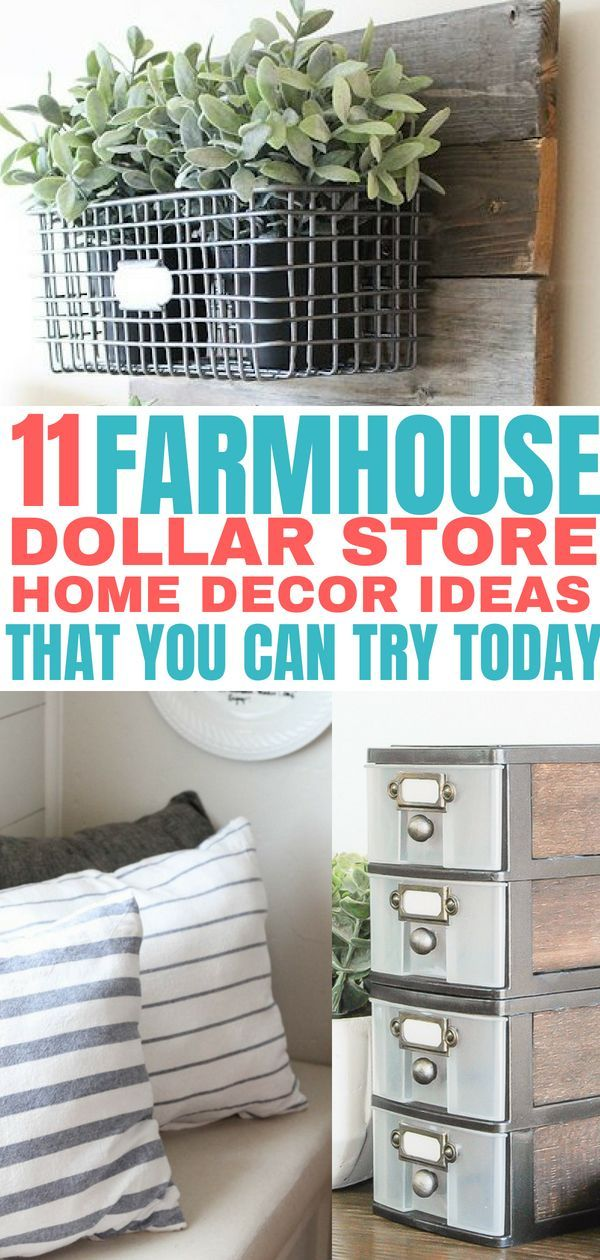 11 Farmhouse Style Decor Ideas Using Items from the Dollar Store images