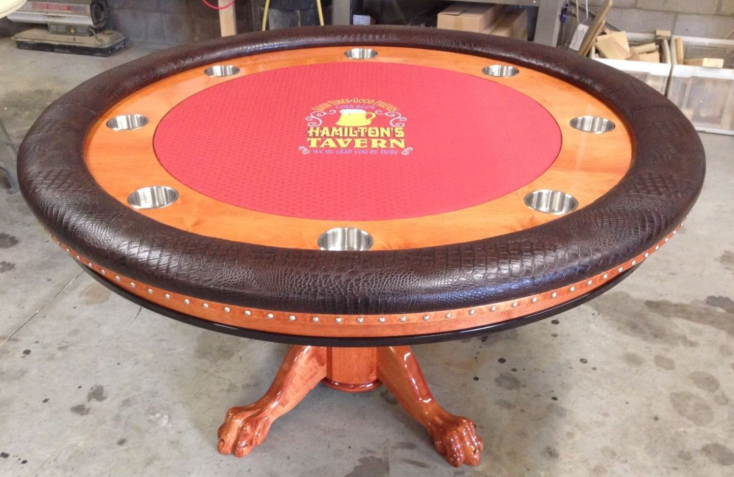 Round Poker Table With Company Info On Custom Felt Bodrum Oyunlar Poker Table For Sale Round Poker Table Ve Poker