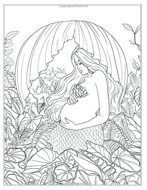 Mermaid Coloring Pages For Adults Pdf