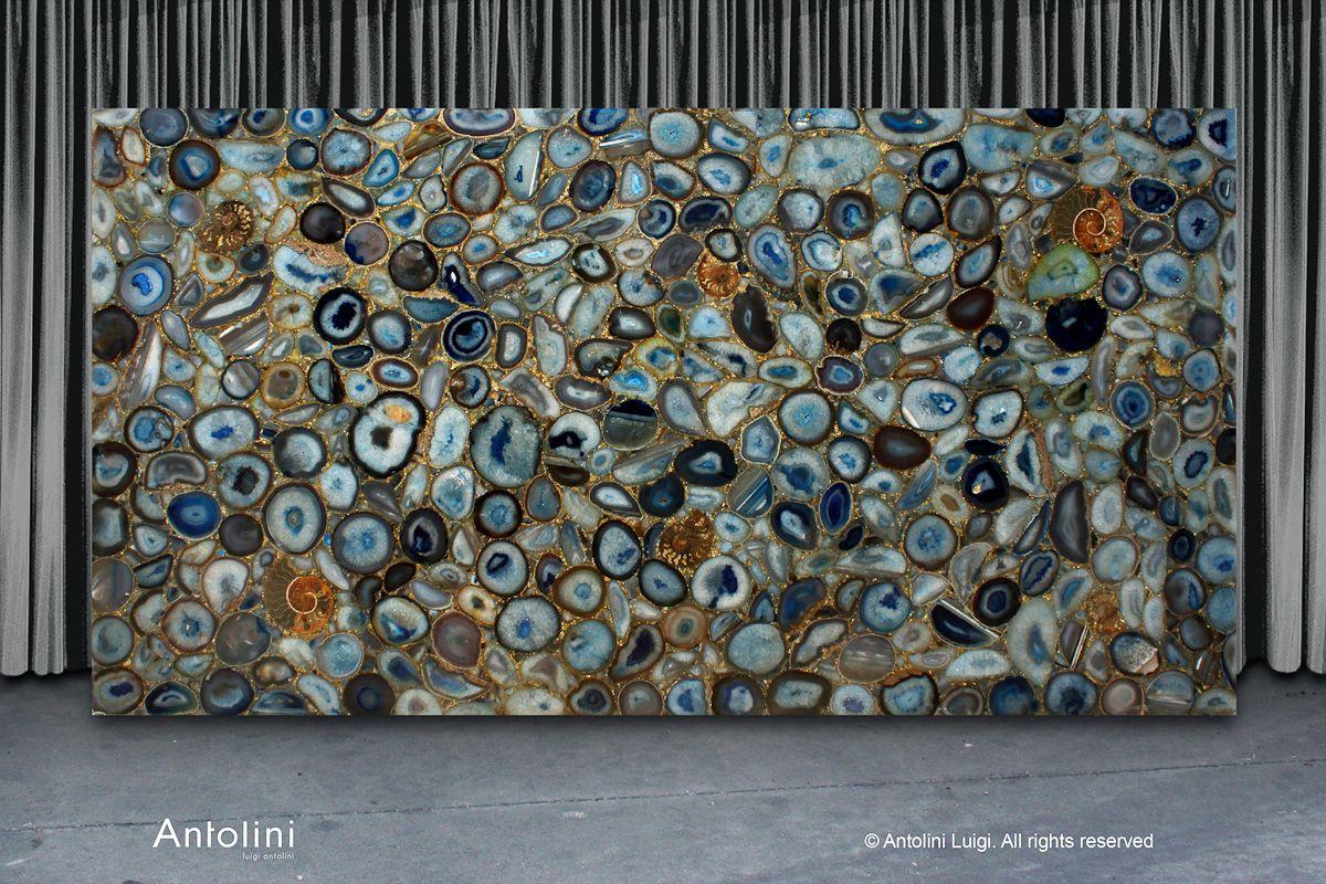 blue agate preciousglitter precioustone collection by antolini luigi precious stones. Black Bedroom Furniture Sets. Home Design Ideas