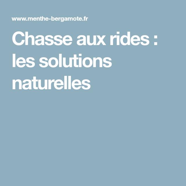 Chasse aux rides: les solutions naturelles