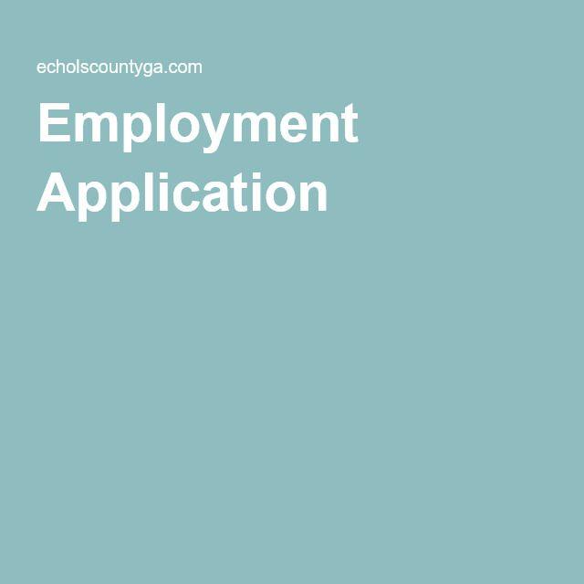 Employment Application Employment Application Healthcare Jobs Employment