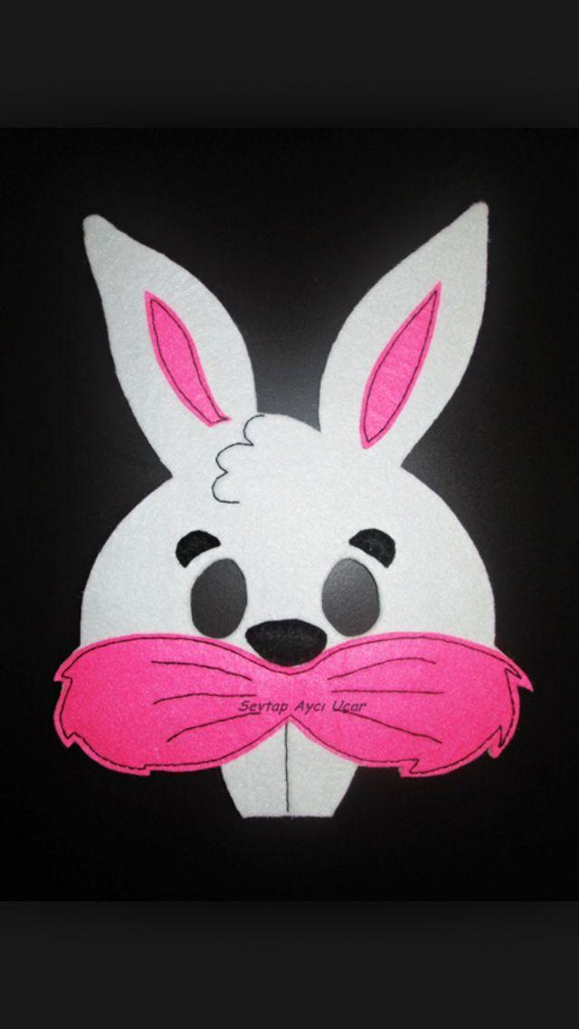 Tavşan Maskesi Maskeleryüz Boyamalarıkuklalar Dolgu
