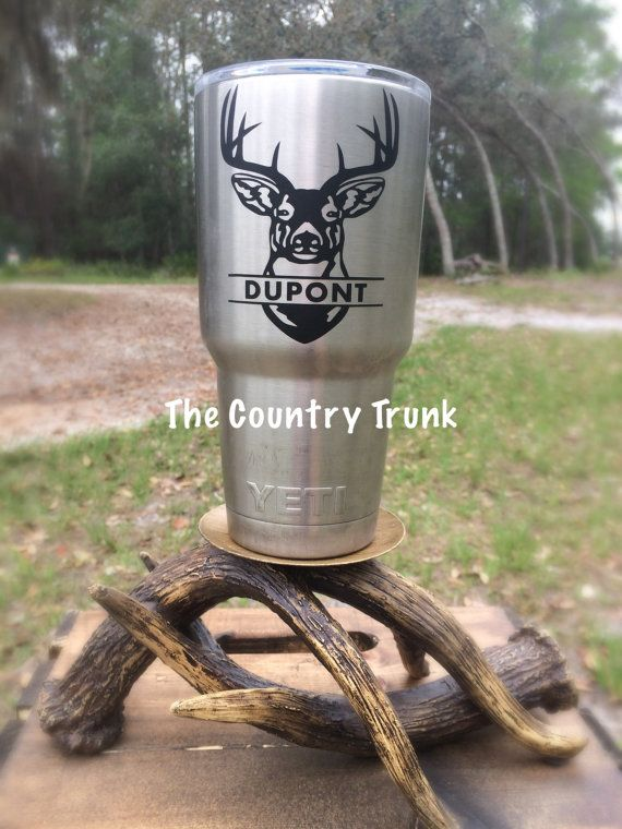 Yeti Decal Deer Head Decal Hunting Decal Name By