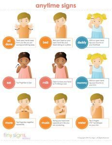 photograph relating to Baby Sign Language Printable named Small Signs or symptoms - Beginner Youngster Indicator Language Printable Mamita
