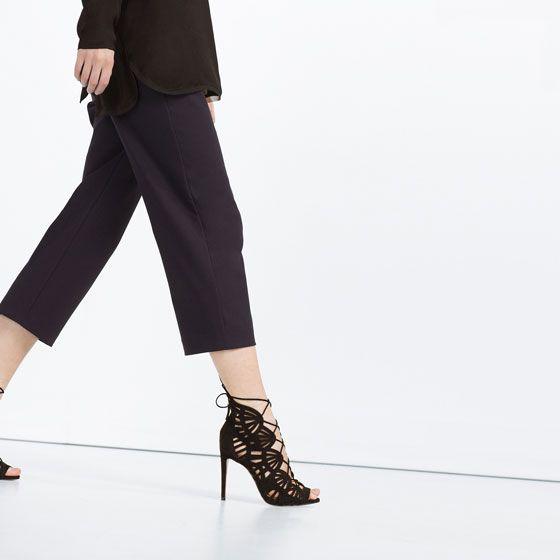 c75cf00c6b25 Image 1 de SANDALES EN CUIR ENVELOPPANTES de Zara   wish  3 ...