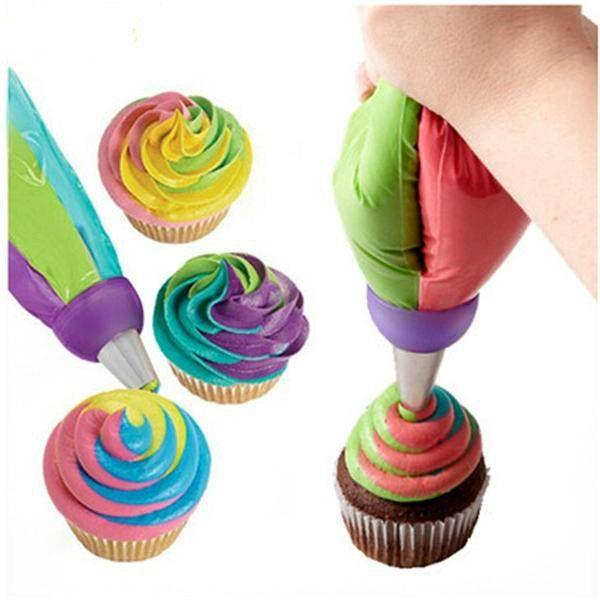 3 Holes Cake Decoration Converter Mix 3 Colors Icing Piping Nozzle Converter For Cupcake #baking  #bakingfun  #bakingislife  #bakingtools  #foodporn  #bakinggoals  #kitchenlife  #baker #dessert   #dessertlover