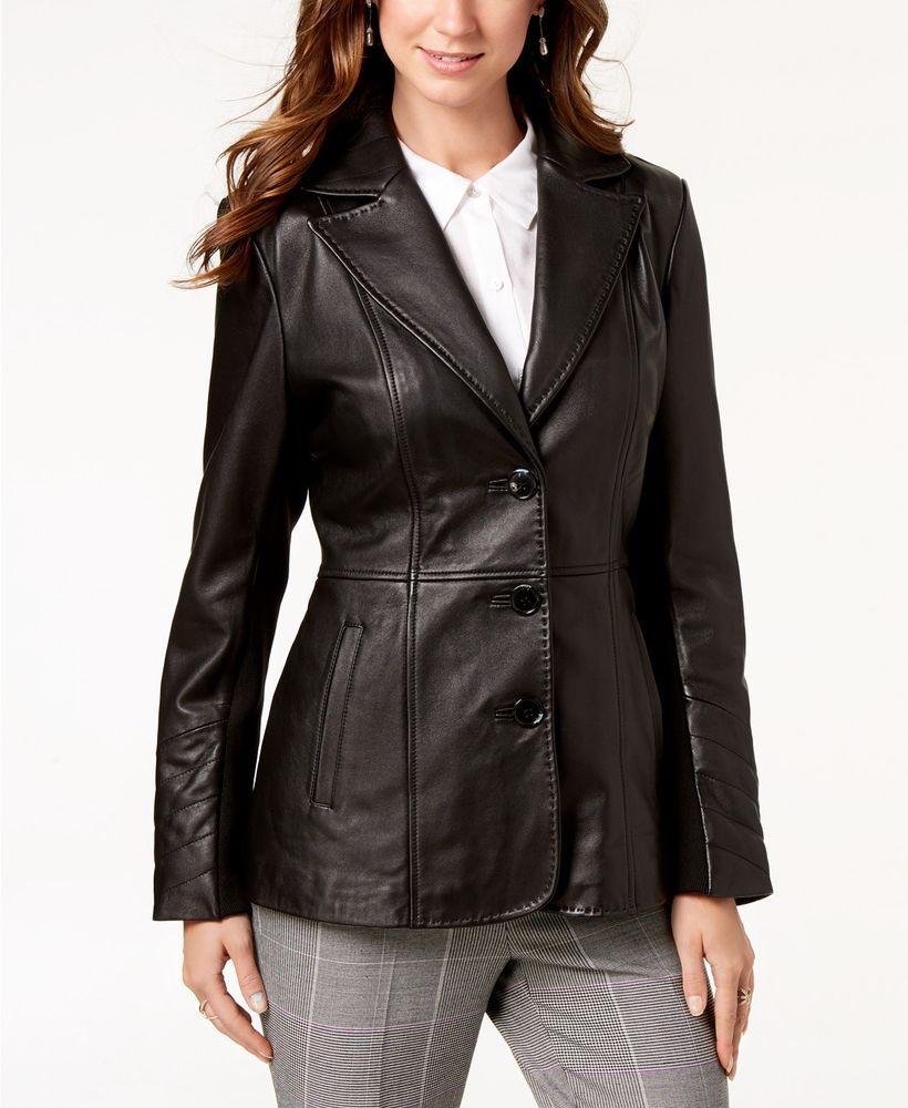 Women Genuine Lambskin Leather Coat Jacket Plus Size Custom Made For Christmas Zaaroon Notchcollar Leather Blazer Women Leather Coat Jacket Leather Jacket [ 1000 x 820 Pixel ]
