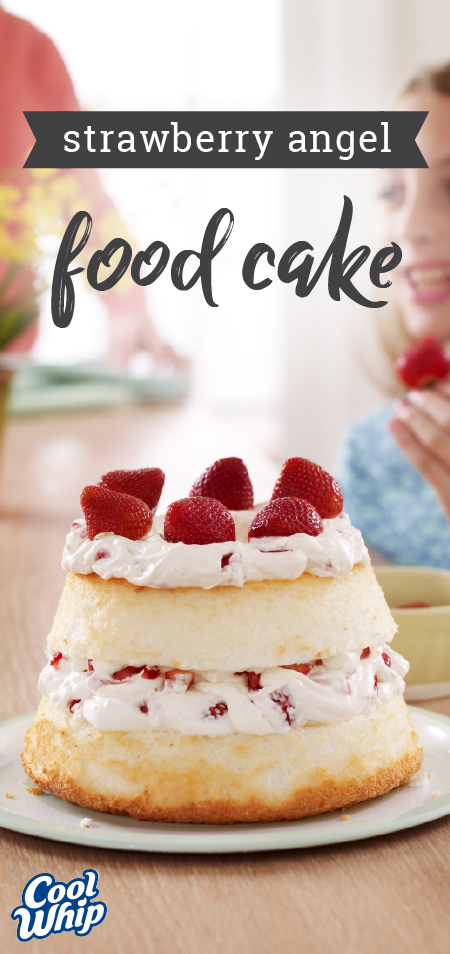 Strawberry angel food cake layer juicy strawberries and luscious cake strawberry angel food forumfinder Gallery