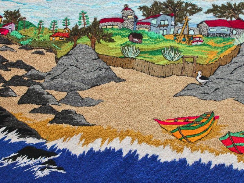 Vista hermosa de Isla Negra - Eliana Moyano - bordadoras de Isla Negra