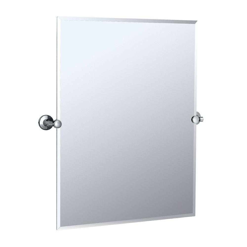 Gatco Max 32 In L X 28 In W Wall Mount Rectangular Mirror In Chrome 4849s The Home Depot Gatco Mirror Wall Bathroom Rectangular Mirror