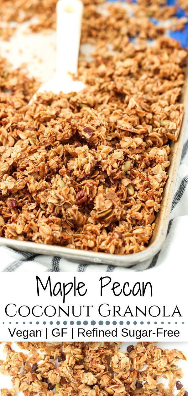 Maple Pecan Coconut Granola | Recipe (With images ...