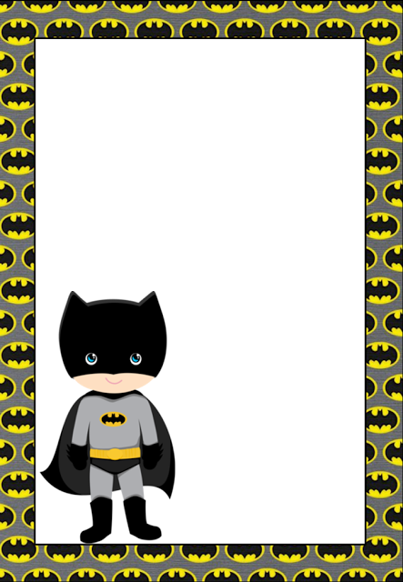 Free Printable Batman Invitations Cards Or Labels