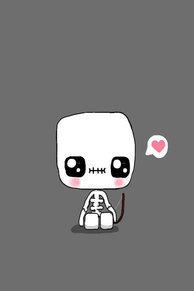 Skeleton   Dibujos kawaii faciles, Minecraft dibujos ...  Minecraft Cute Skeleton