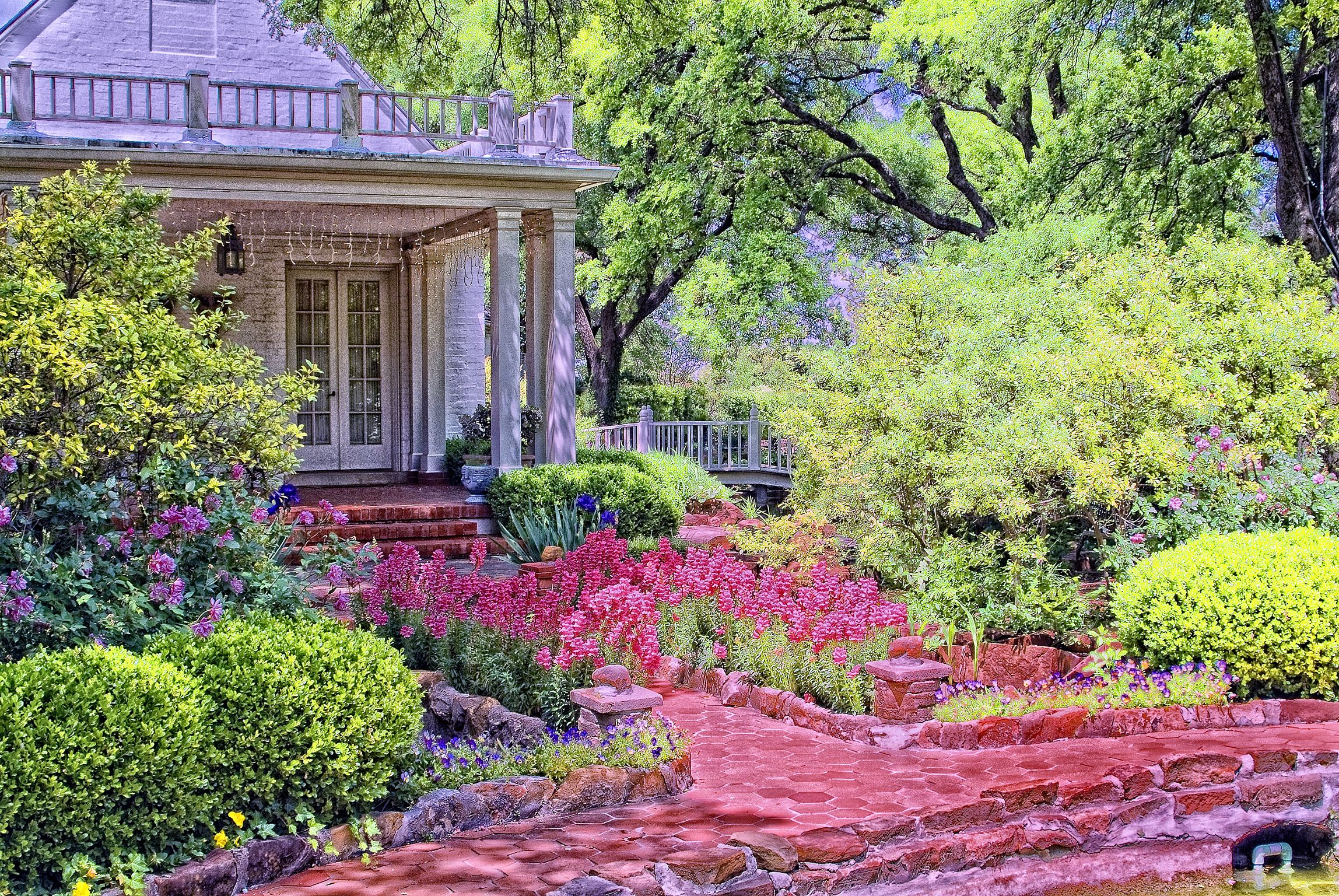 Chandor Gardens Weatherford Texas This Terrace Is Just Off The Master Suite Of The House
