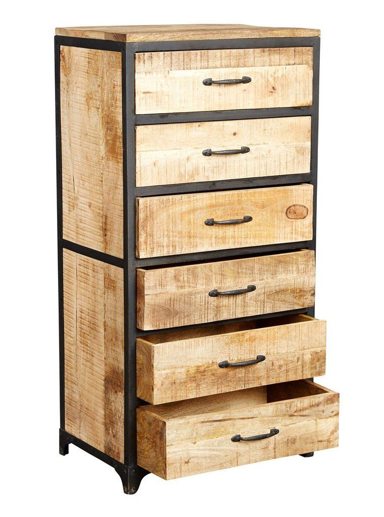 Instrument Brick Tall Chest Of Drawers Reclaimed Wood And Metal Industrial Furniture Vintage Industrial Furniture Industrial Design Furniture