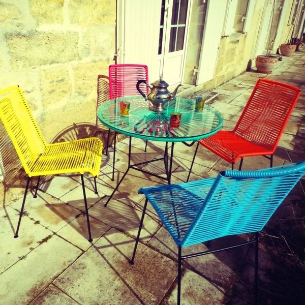magnifique salon de jardin coloré pas cher | Décoration ...