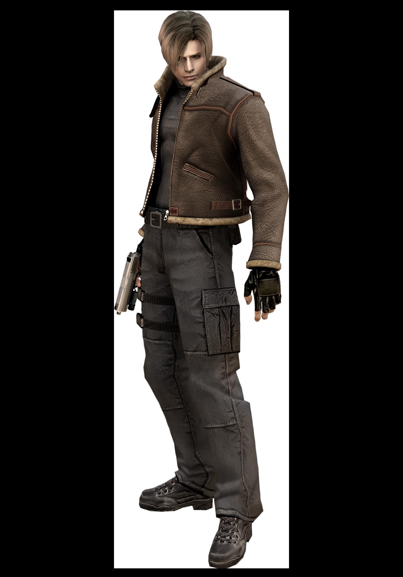 Resident Evil 4 Leon Scott Kennedy With Jacket Render Png Resident Evil Imagem De Jogos Personagens