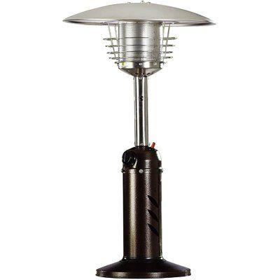 Hanover Mini Umbrella Tabletop Propane Patio Heater Color Hammered Bronze Tabletop Patio Heater Patio Heater Natural Gas Patio Heater