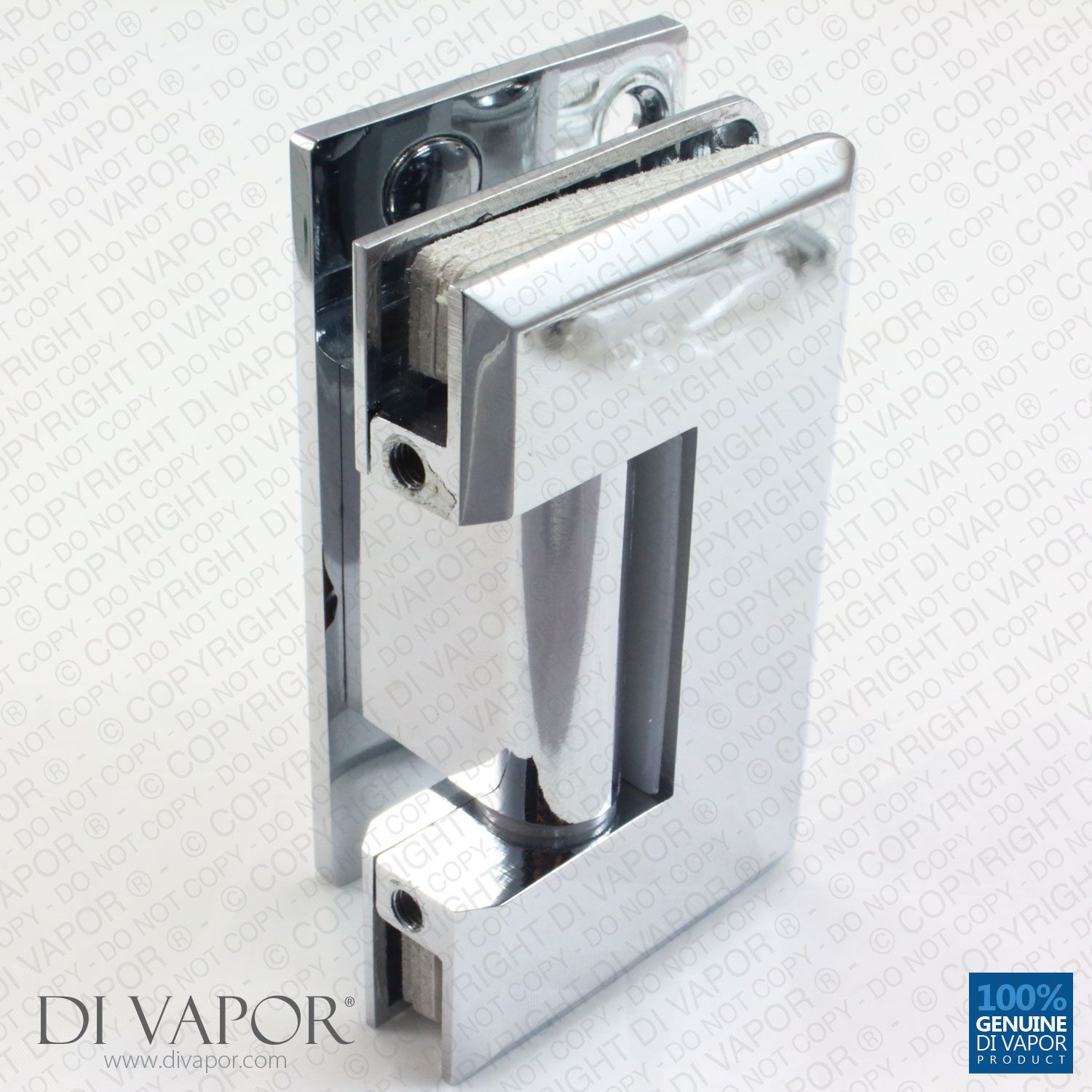 90 Degree Wall Mounted Shower Door Glass Hinge | Chrome Plated ...