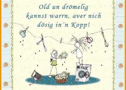 Geburtstag Waschmaschine Plattdeutsch Plattdeutsch Plattdeutsch Spruch Handlettering Geburtstag