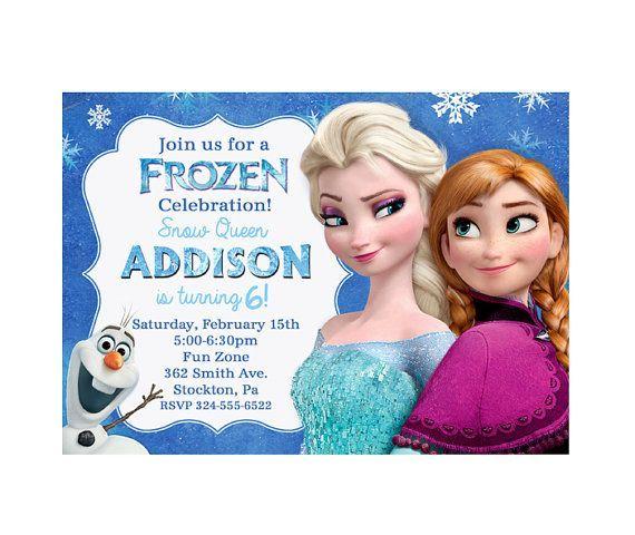 Elsa Frozen Birthday Party Invitations Editable Jane 3rd Birthday