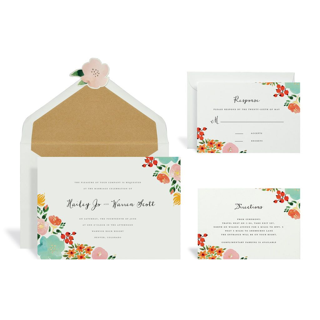 Floral Multicolored Wedding Invitation Kit By Celebrate It Wedding Invitation Kits Invitation Kits Wedding Invitations